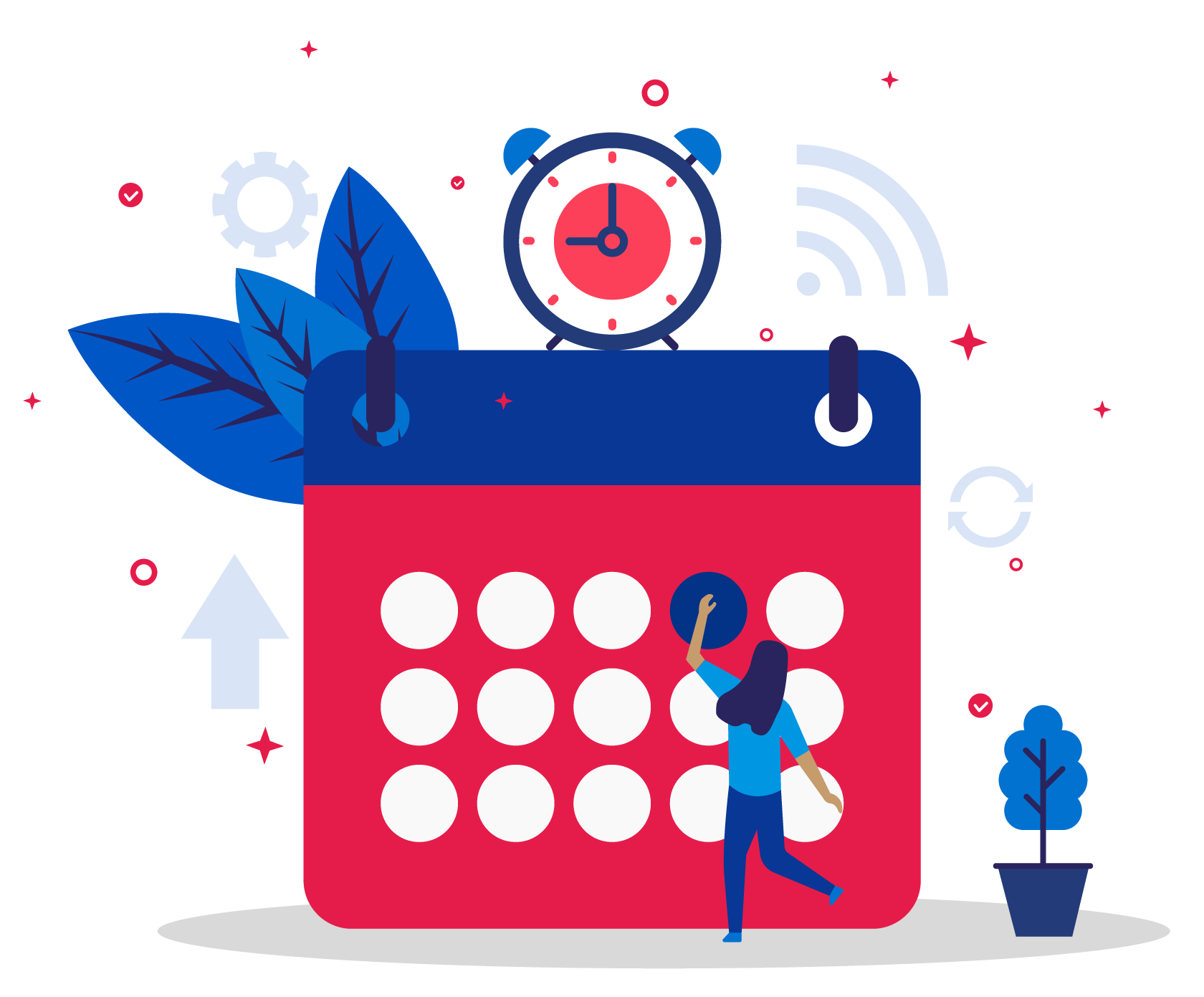 calendar icon with person