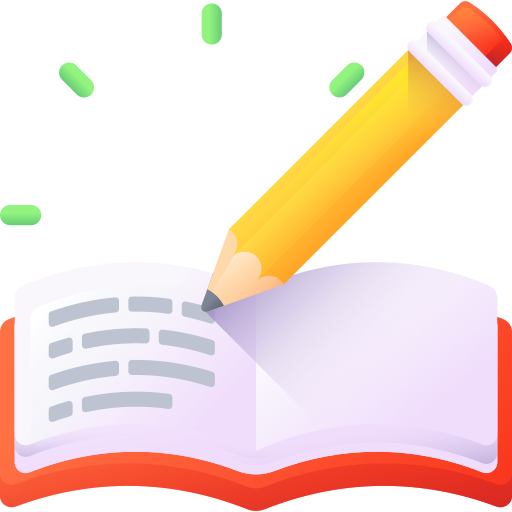 book icon with pencil