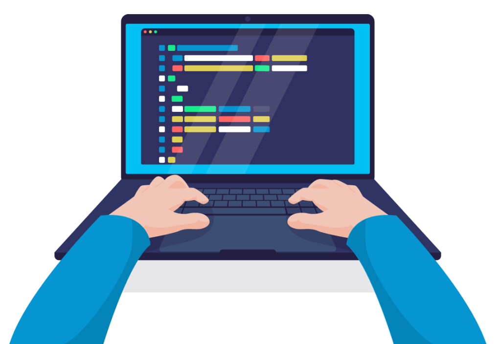coding on pc icon