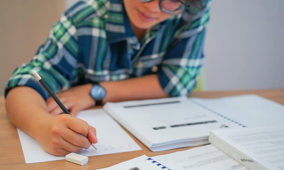 student doing math 6 tips