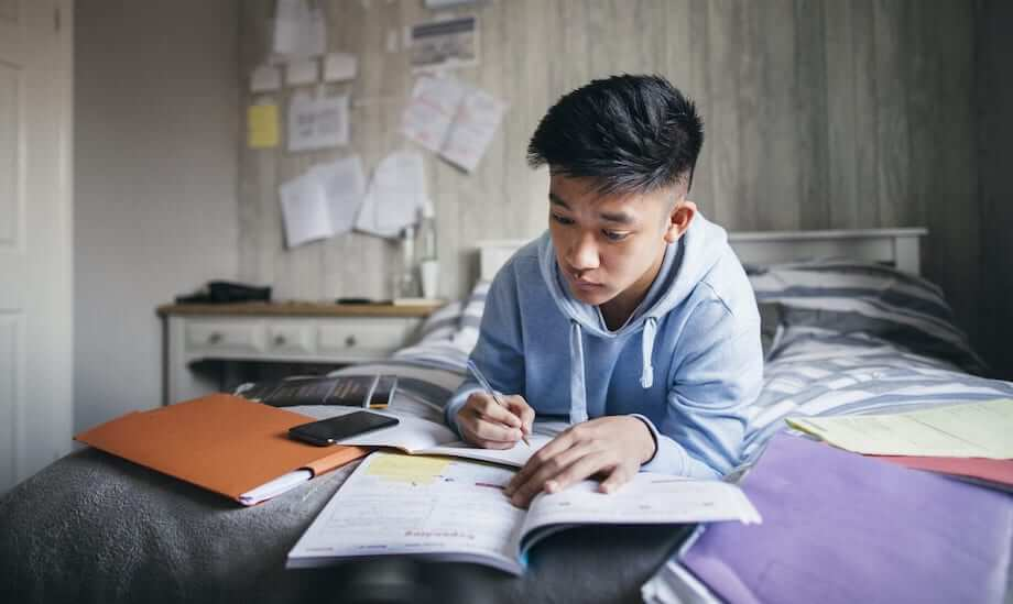 Signs of ADHD look vary in different students, like this male who isn't visibly struggling.